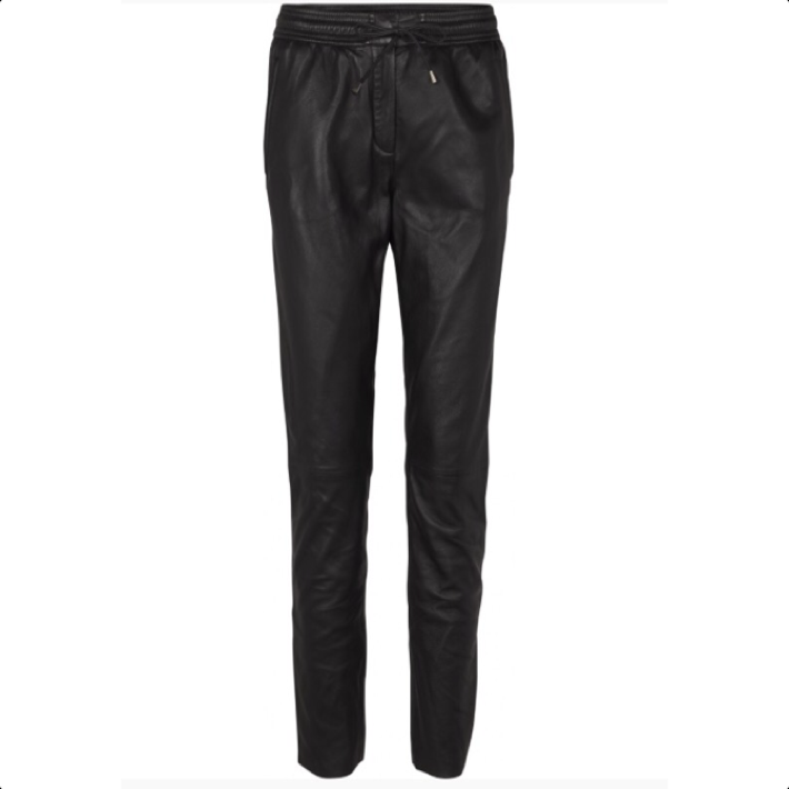 Pril Black Leather Trousers