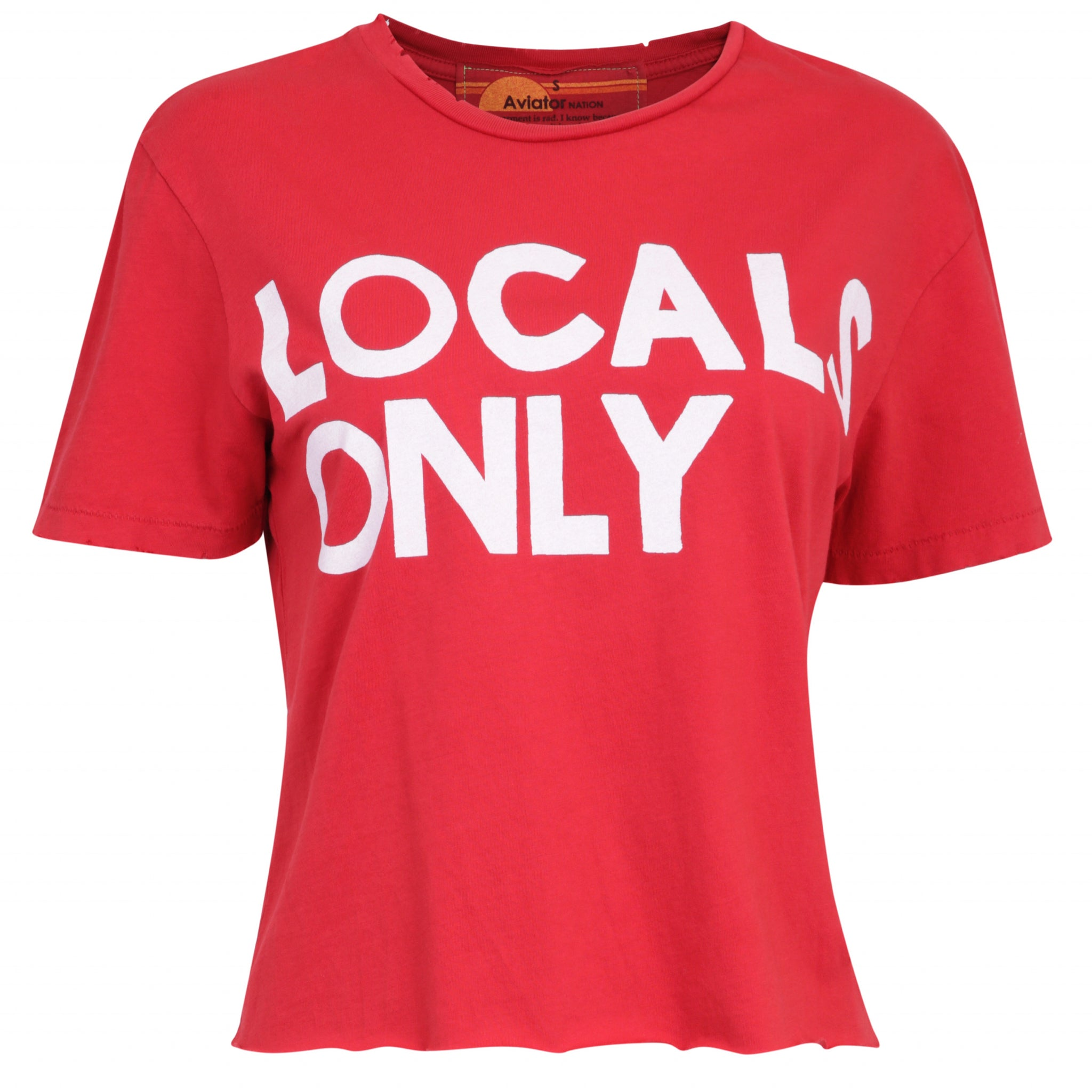 """Locals only"" Red T-shirt"