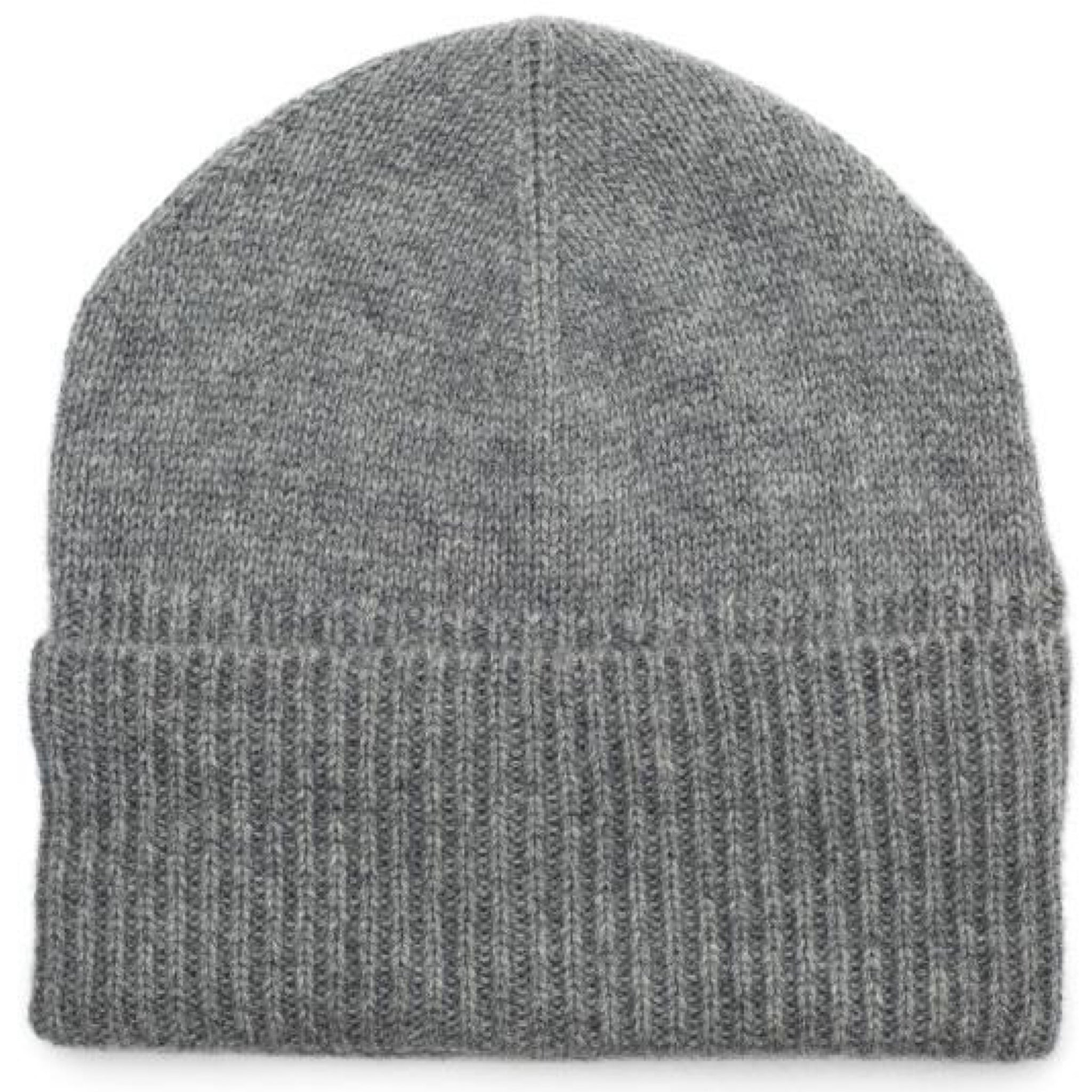 Ribbed Grey Beanie