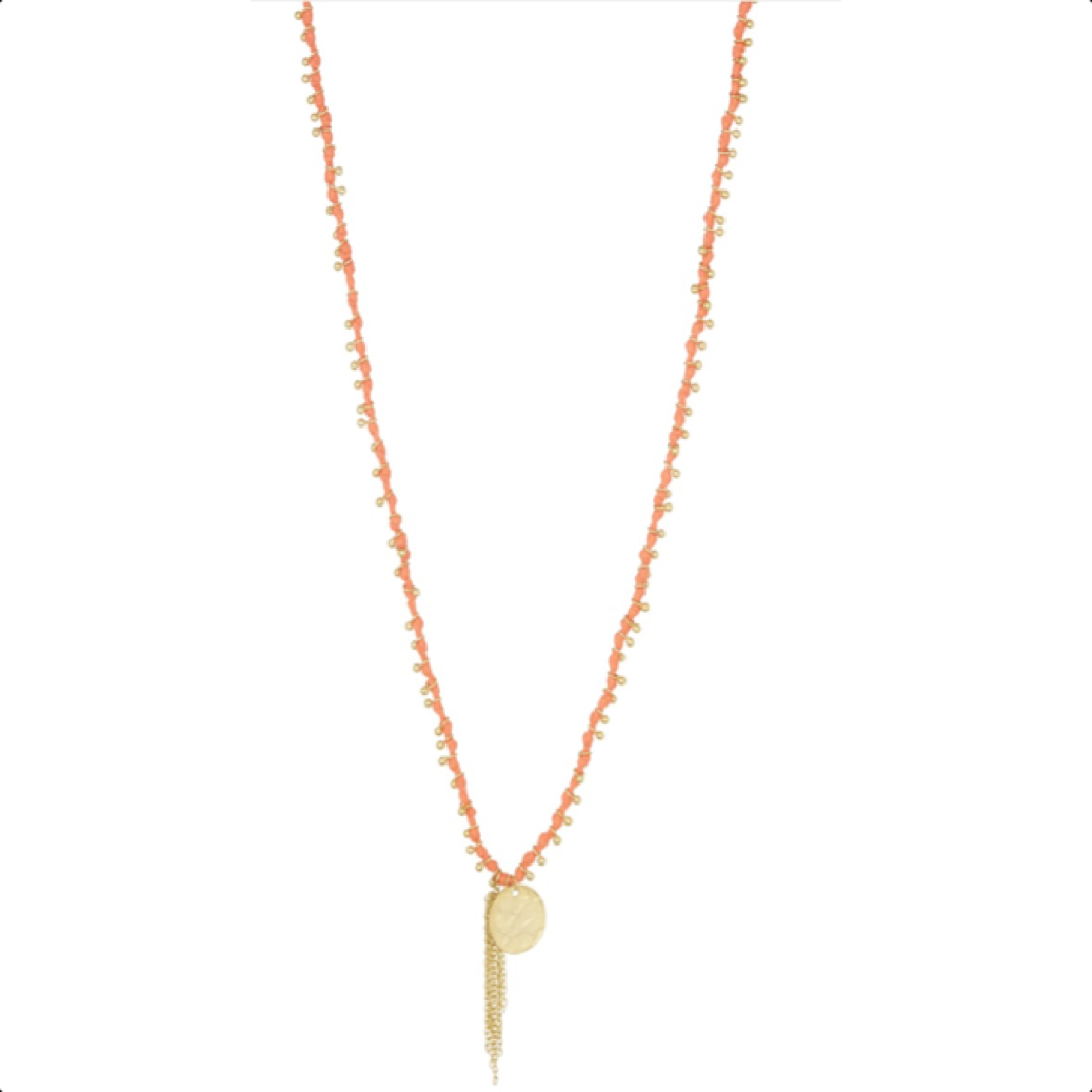 Sunset Necklace Coral