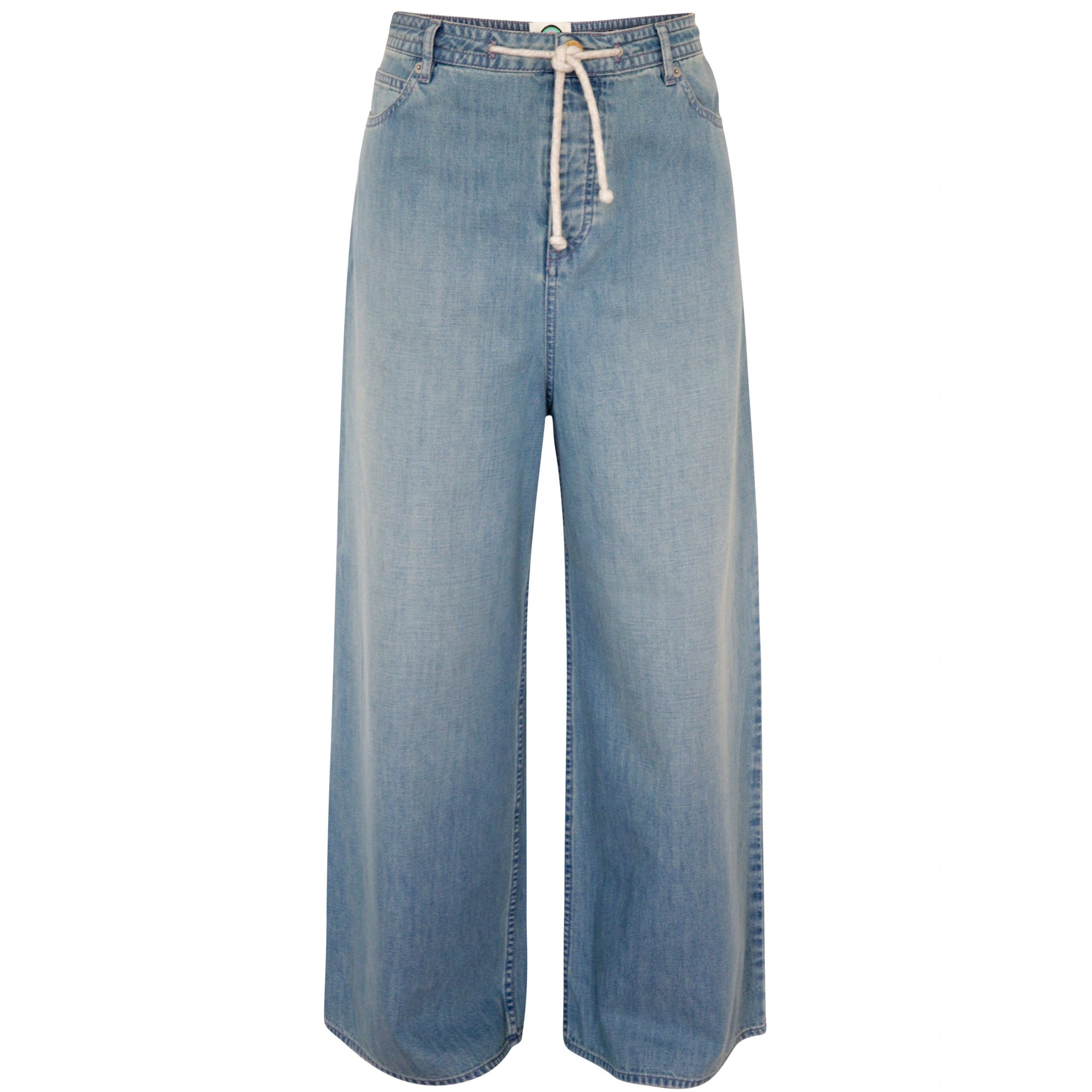Flared denim trouser