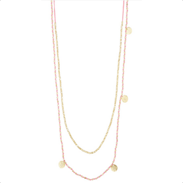 405de49635a78 Lowtide Necklace Pink. The West Village