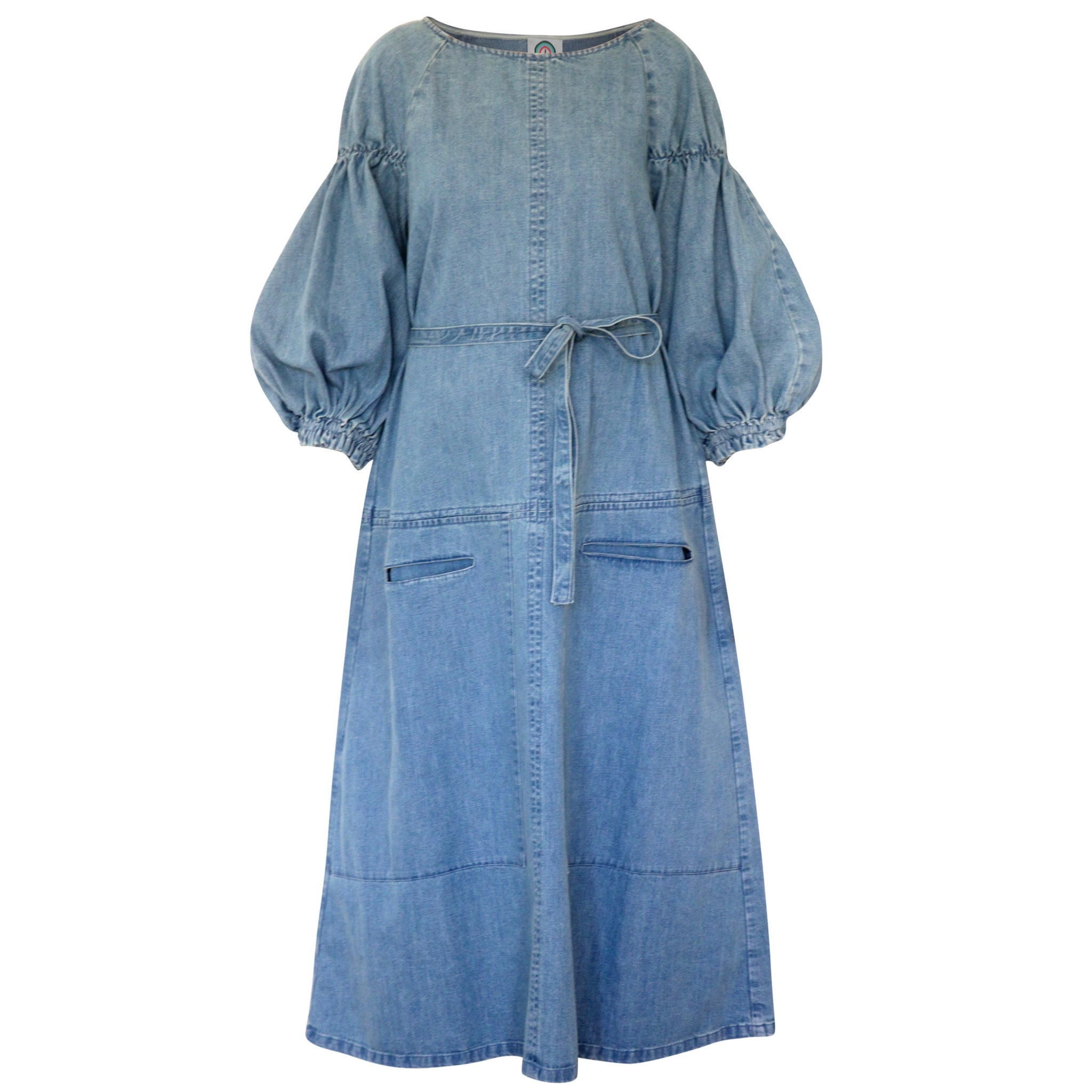 Denim dress with Balloon sleeve