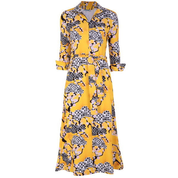 Shirt Dress Yellow Blossom