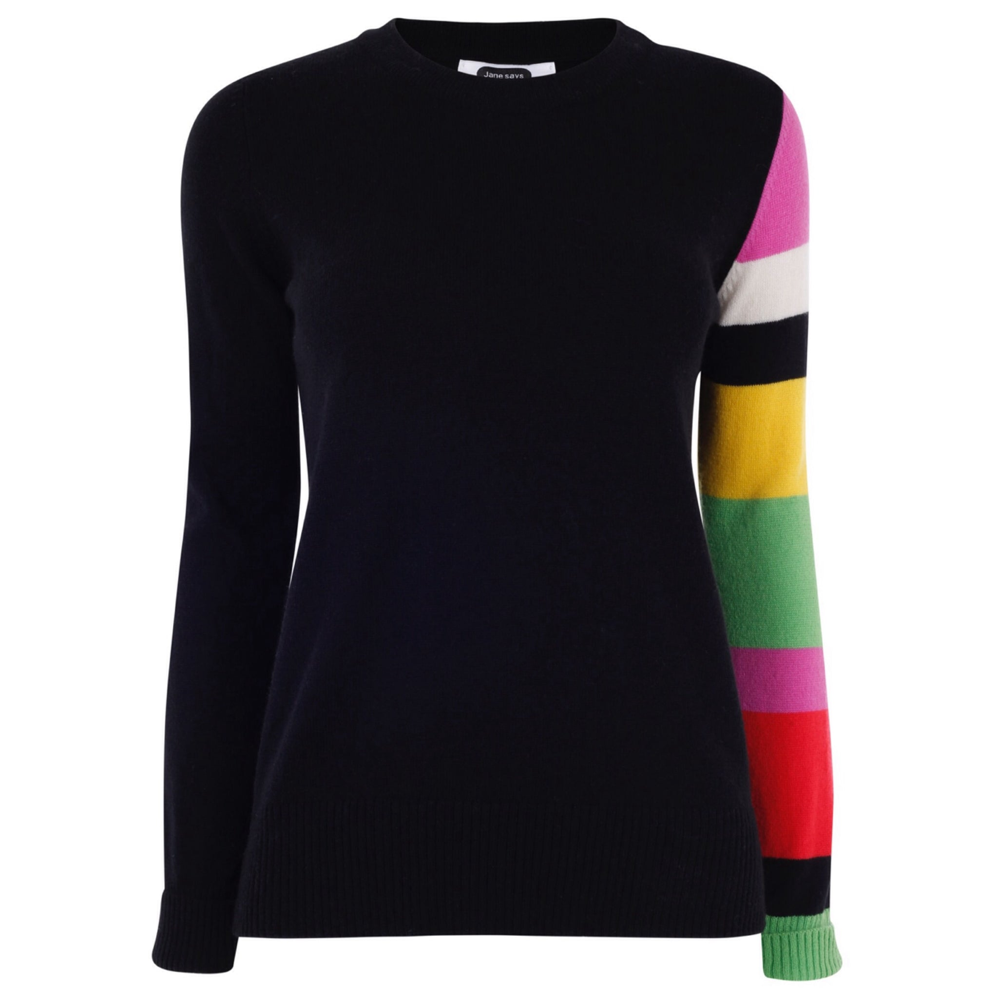 Colour Block Sleeve - Jet Black