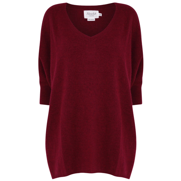 Poncho Bordeaux chine