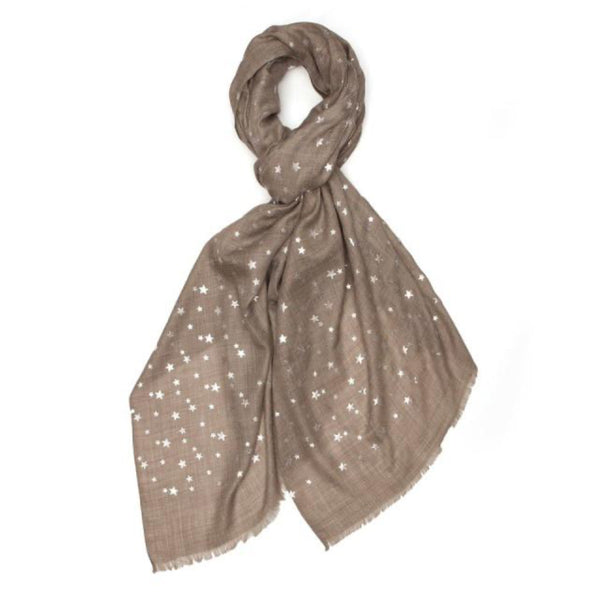 Star Pashmina- Silver/Natural