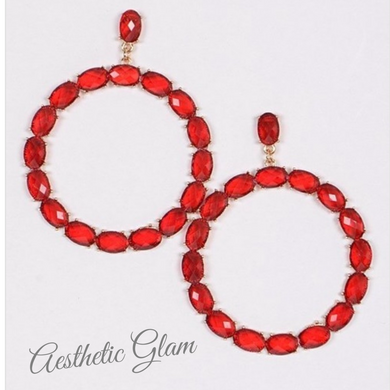 Red Glam Earrings
