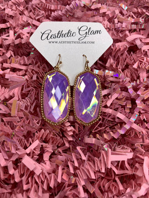 Reign Purple Iridescent Earrings
