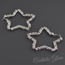 Load image into Gallery viewer, Glam Star Hoops