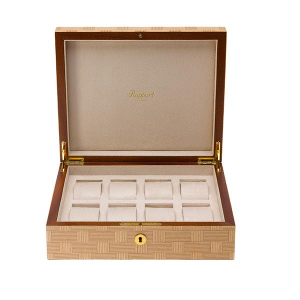 Rapport Heritage Bamboo 8 Watch Box L406 - Hamilton & Lewis Jewellery