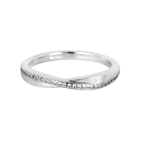 Entwined diamond set wedding ring - Hamilton & Lewis Jewellery