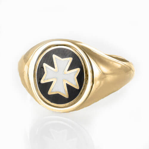 Reversible 9ct Gold Knights of Malta Masonic Ring - Hamilton & Lewis Jewellery