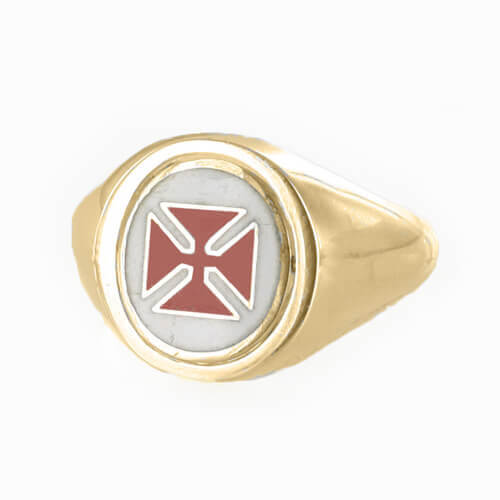 Reversible 9ct Gold Knights Templar Masonic Ring - Hamilton & Lewis Jewellery