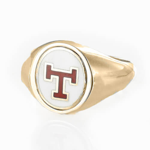 Reversible 9ct Gold Triple Tau Masonic Ring - Hamilton & Lewis Jewellery