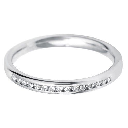 2.5mm (40%) Court Channel Set Wedding Band - Hamilton & Lewis Jewellery