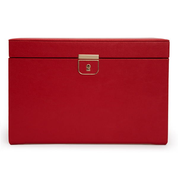 Wolf Red Palermo Large Jewellery Box 213072 - Hamilton & Lewis Jewellery