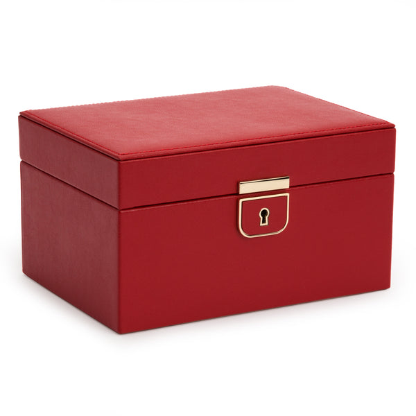 Wolf Red Palermo Small Jewellery Box 213172 - Hamilton & Lewis Jewellery