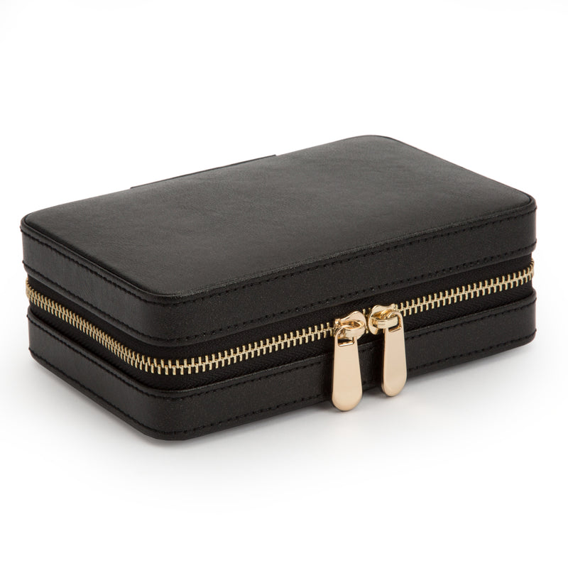 Wolf Black Palermo Jewellery Zip Case 213602 - Hamilton & Lewis Jewellery
