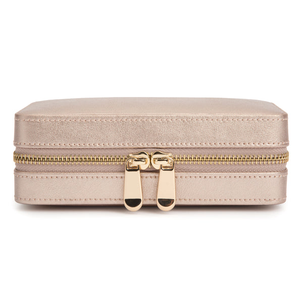 Wolf Rose Gold Palermo Jewellery Zip Case 213616 - Hamilton & Lewis Jewellery
