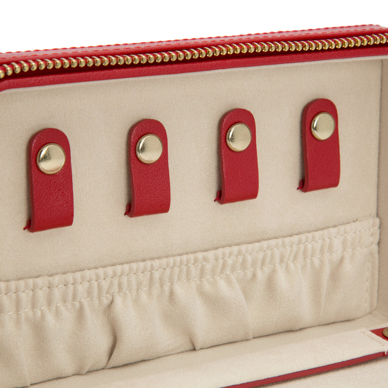 Wolf Red Palermo Jewellery Zip Case 213672 - Hamilton & Lewis Jewellery
