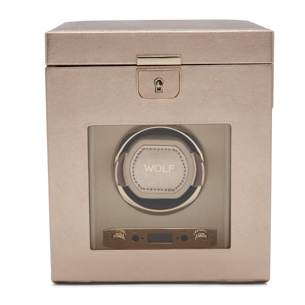 Wolf Single Rose Gold Palermo Winder with Storage 213716 - Hamilton & Lewis Jewellery