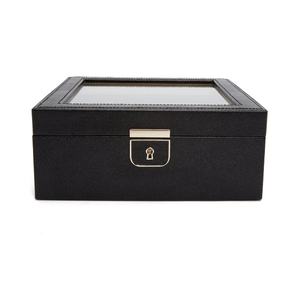 Wolf BLACK PALERMO 6 PIECE WATCH BOX 213802 - Hamilton & Lewis Jewellery