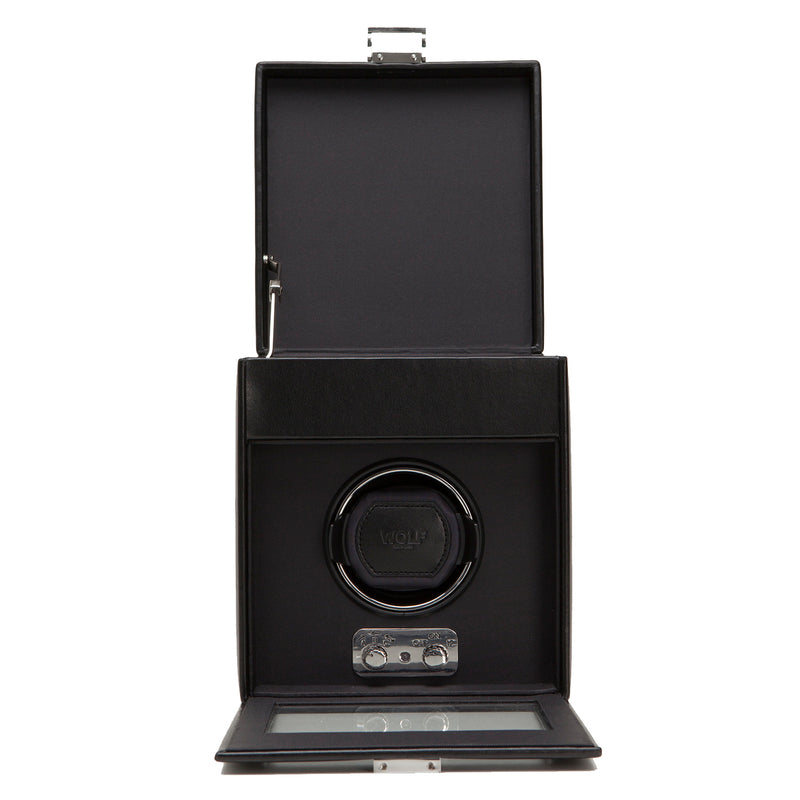 Wolf Single Black Heritage Winder with Storage 270302 - Hamilton & Lewis Jewellery
