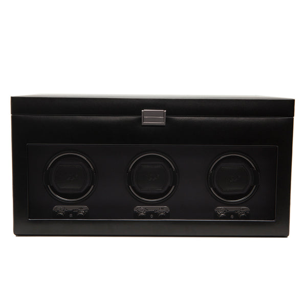 Wolf Triple Black Heritage Winder with Storage 270502 - Hamilton & Lewis Jewellery