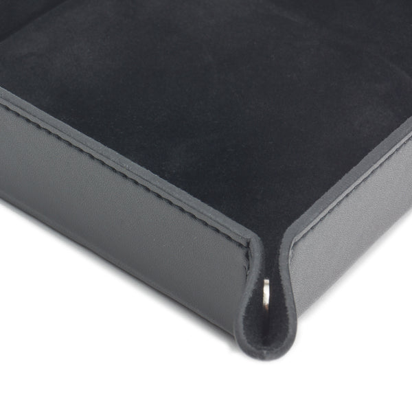 Wolf Heritage Black Leather Coin Tray 290002
