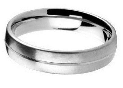 4mm Mens Ring with F09 finish - Hamilton & Lewis Jewellery
