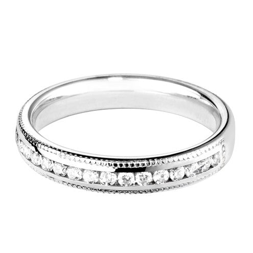 3.5mm (60%) Vintage Milgrain Court Wedding Band - Hamilton & Lewis Jewellery