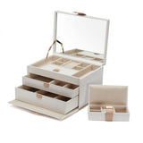 Wolf Cream Chloe Medium Jewellery Box 301053 - Hamilton & Lewis Jewellery