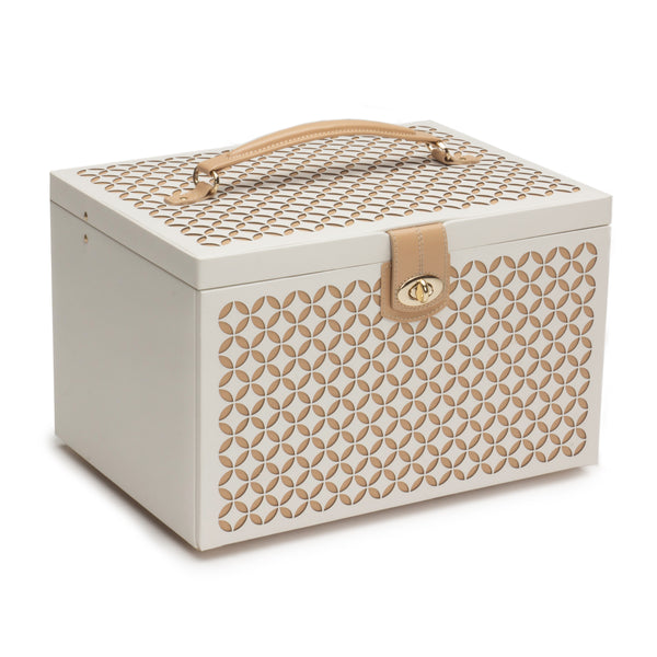 Wolf Cream Chloe Large Jewellery Box 301553