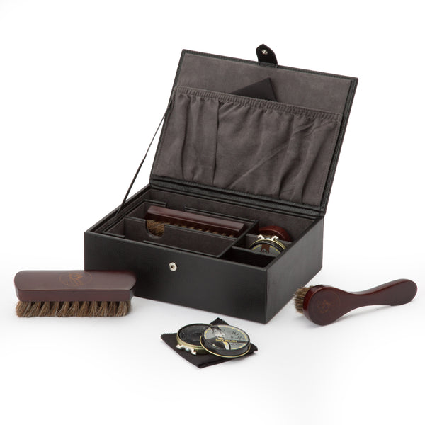 Wolf Blake Black Shoe Shine Kit 305202 - Hamilton & Lewis Jewellery
