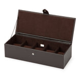 Wolf 5 Piece Brown Blake Watch Box 305506 - Hamilton & Lewis Jewellery