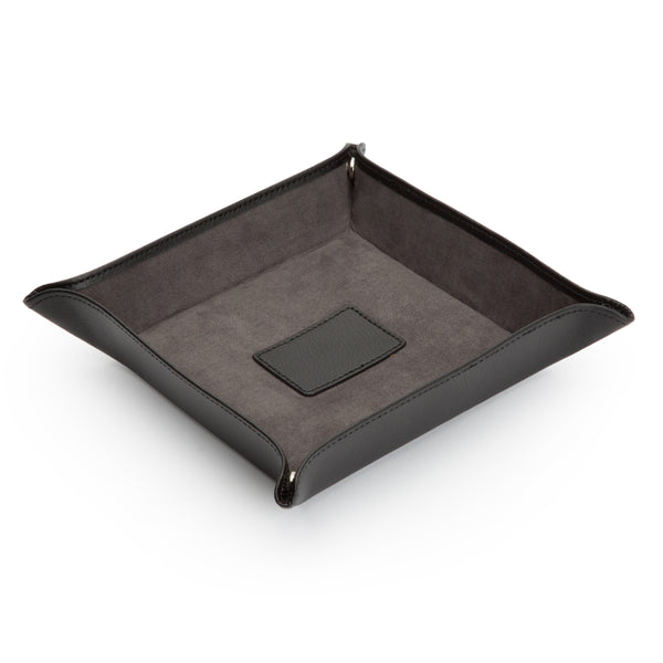 Wolf Blake Black Leather Coin Tray 305702