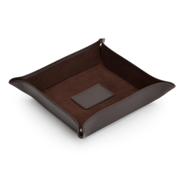 Wolf Blake Brown Leather Coin Tray 305706 - Hamilton & Lewis Jewellery