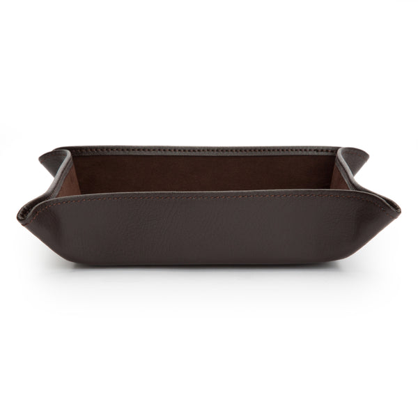 Wolf Blake Brown Leather Coin Tray 305706