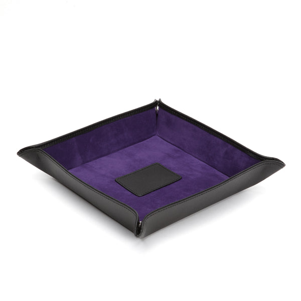 Wolf Blake Black/Purple Leather Coin Tray 305728