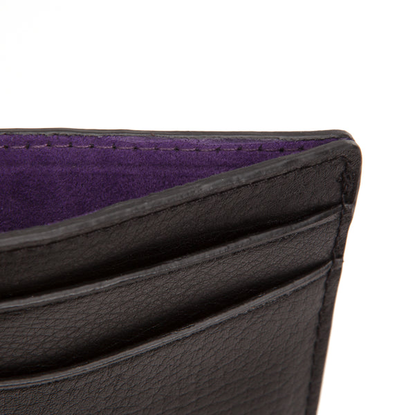 Wolf Blake Black/Purple Leather Card Wallet 306028 - Hamilton & Lewis Jewellery