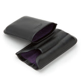 Wolf Blake Black 3 Piece Cigar Case 306628 - Hamilton & Lewis Jewellery