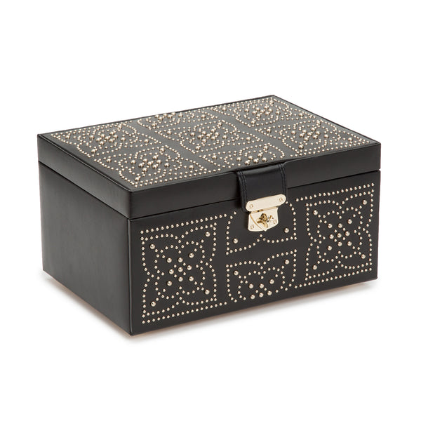 Wolf Black Marrakesh Medium Jewellery Box 308102 - Hamilton & Lewis Jewellery