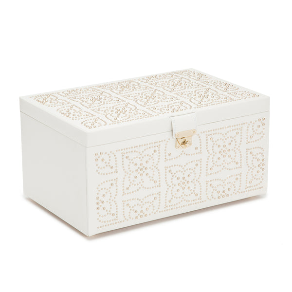 Wolf Cream Marrakesh Large Jewellery Box 308253