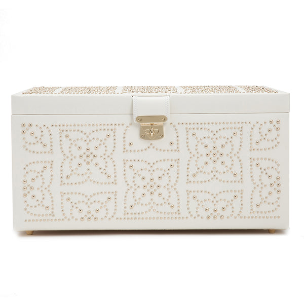 Wolf Cream Marrakesh Large Jewellery Box 308253 - Hamilton & Lewis Jewellery