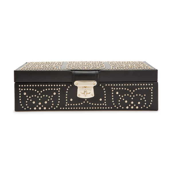 Wolf Black Marrakesh Small Flat Jewellery Box 308302 - Hamilton & Lewis Jewellery