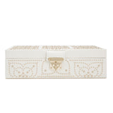 Wolf Cream Marrakesh Small Flat Jewellery Box 308353 - Hamilton & Lewis Jewellery