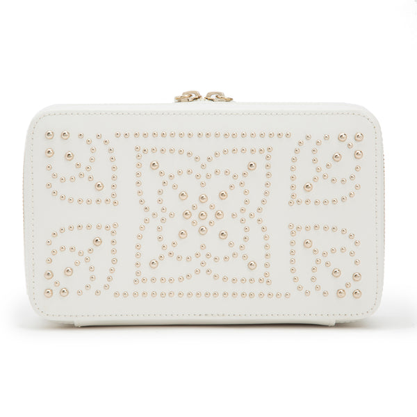 Wolf Cream Marrakesh Jewellery Zip Case 308653 - Hamilton & Lewis Jewellery