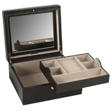 Wolf Cocoa London Small Square Jewellery Box 315206 - Hamilton & Lewis Jewellery