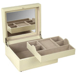 Wolf Cream London Small Square Jewellery Box 315253 - Hamilton & Lewis Jewellery